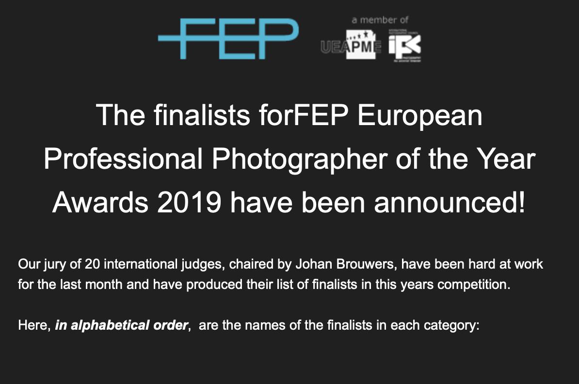 Seznamte se s finalisty soutěže FEP Evropský Profesionální fotograf roku 2019