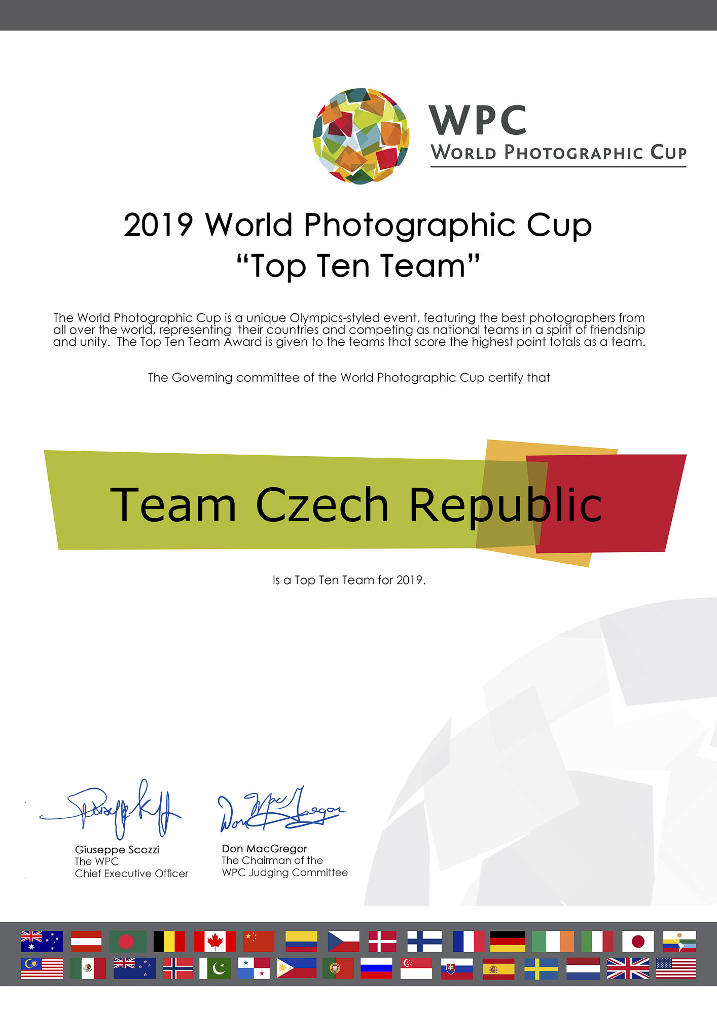 Náš tým v Top 10 WPC 2019 a Richard Horák bronzový v kategorii Příroda!